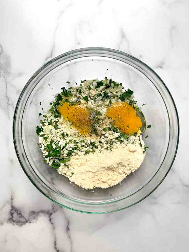 cauliflower fritters base