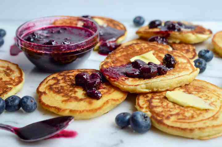 blueberry compote can be made in about 5 minutes