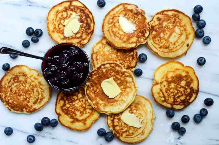 butter is an essential component of pancakes in our house