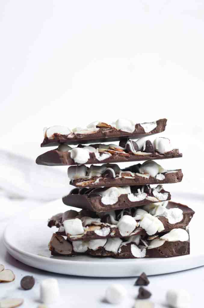 this rocky road chocolate bark is incredibly stackable and makes a perfect gift for others