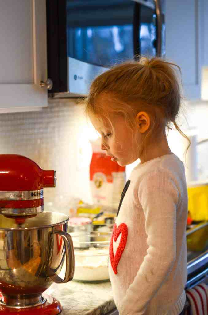 holiday baking with kids is the best