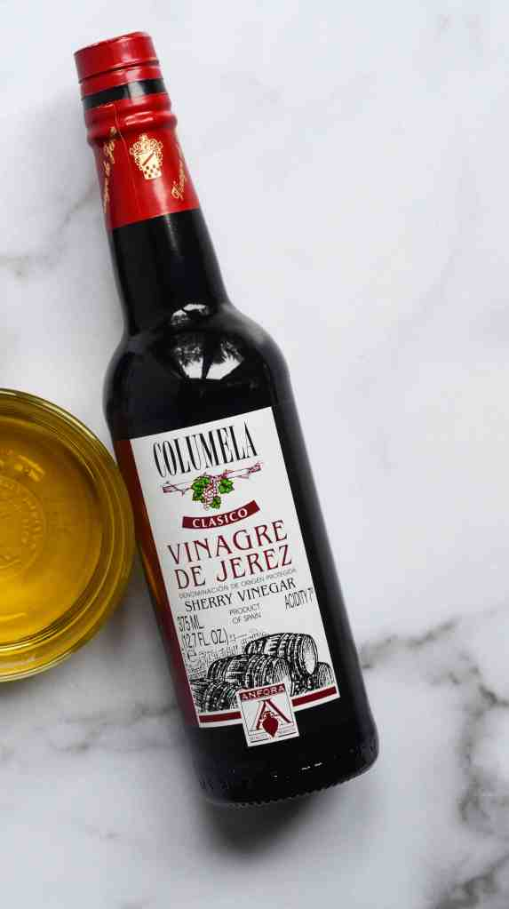 bottle of sherry vinegar need for the copycat cosi signature salad