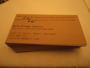 Kraft paper has become one of my favorite things, so as part of this show, I made a point to add the touch of kraft paper business cards. I love how they look.