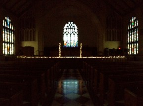 During a day trip to Holland, Conor and I walked into Dimnent Memorial Chapel to find this.