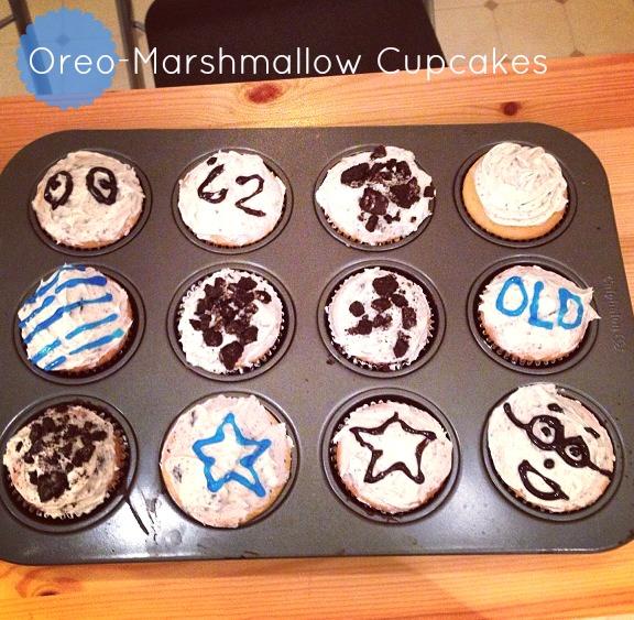 Oreo-Marshmallow Cupcakes