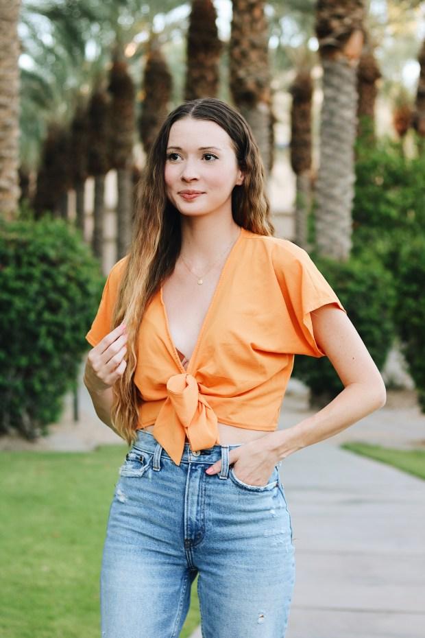 Orange Top PrettyLittleThing.com