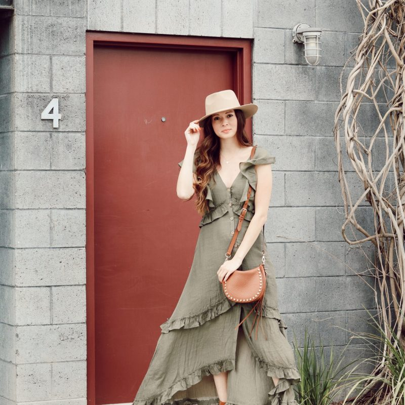 Green Maxi Dress- Perfect For Spring