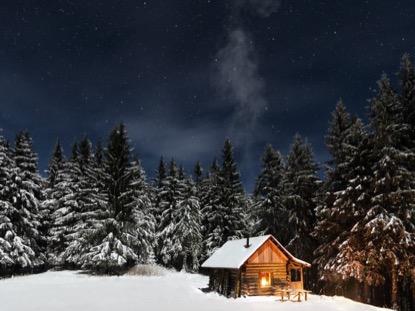Wallpaper Hd Snow Falling Rustic Winter Cabin Media4worship Worshiphouse Media