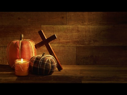 Fall Powerpoint Wallpaper Plaid Pumpkins And Cross On Urban Wood Background Video