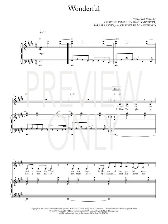 Modern 10000 Reasons Chords Frieze - Basic Guitar Chords For ...
