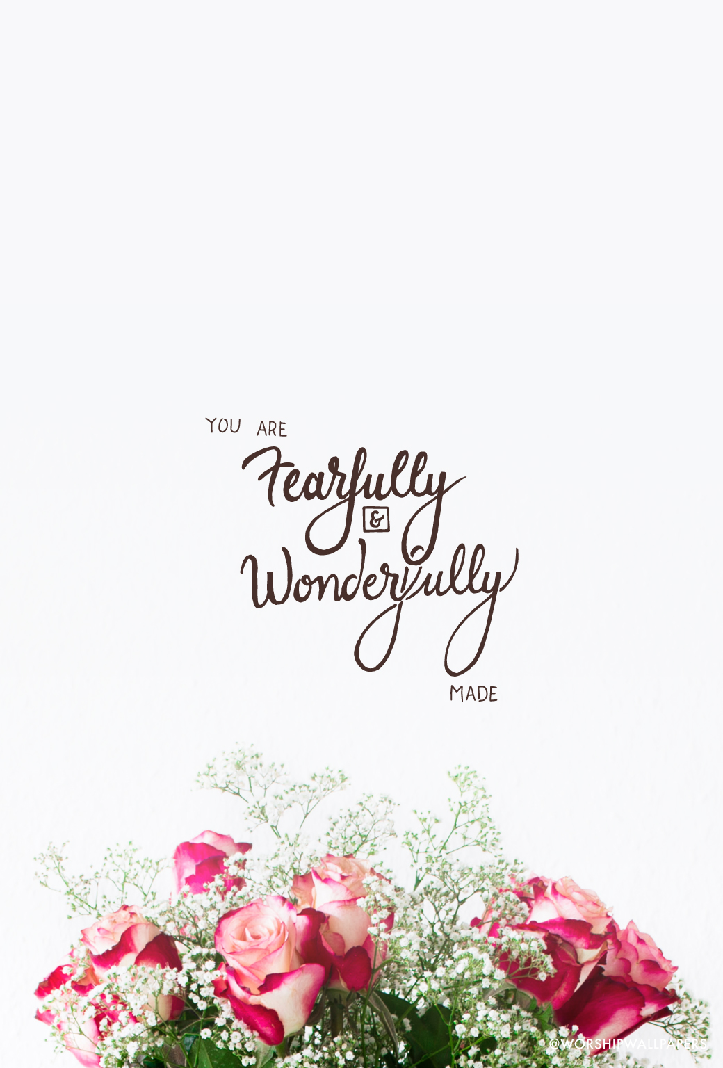 Pretty Wallpapers Rose Quotes Psalm 139 14 Worship Wallpapers