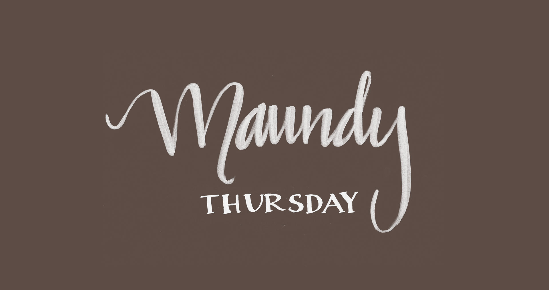maundy thursday commandments and promises banner