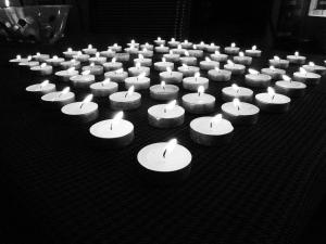 Jan 1 2012 candles B&w
