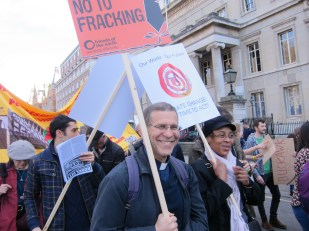 Climate change march, London UK -- photo by Ana Gobledale