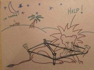 Lion & Mouse illustration by Tod Gobledale