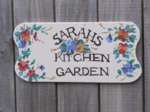 Garden sign, Kallista, Australia -- Ana Gobledale