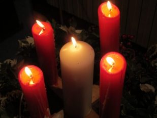Advent candles, Salisbury URC UK