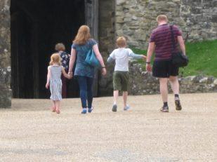 family on Isle of Wight, UK
