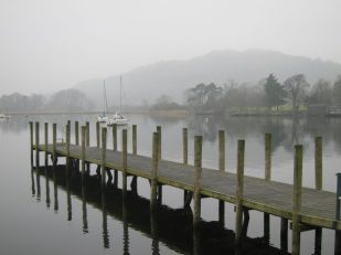 Fog over Lake Windermere, Cumbria UK -- Ana Gobledale