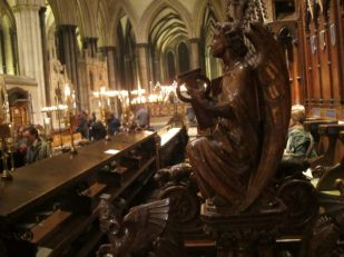 Angel, Salisbury Cathedral Quire -- by Ana Gobledale