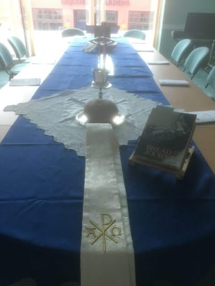 Maundy Thursday communion by Geoff Clarke, UK