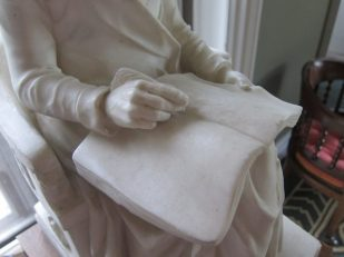 Reading sculpture, library, Stourhead, UK