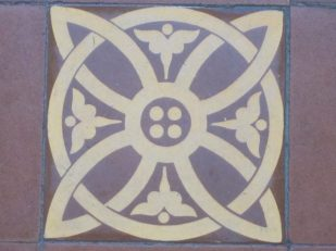 St Mary Redcliffe, Bristol UK, tile