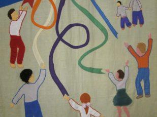 Children banner, Church in Wales, Conwy