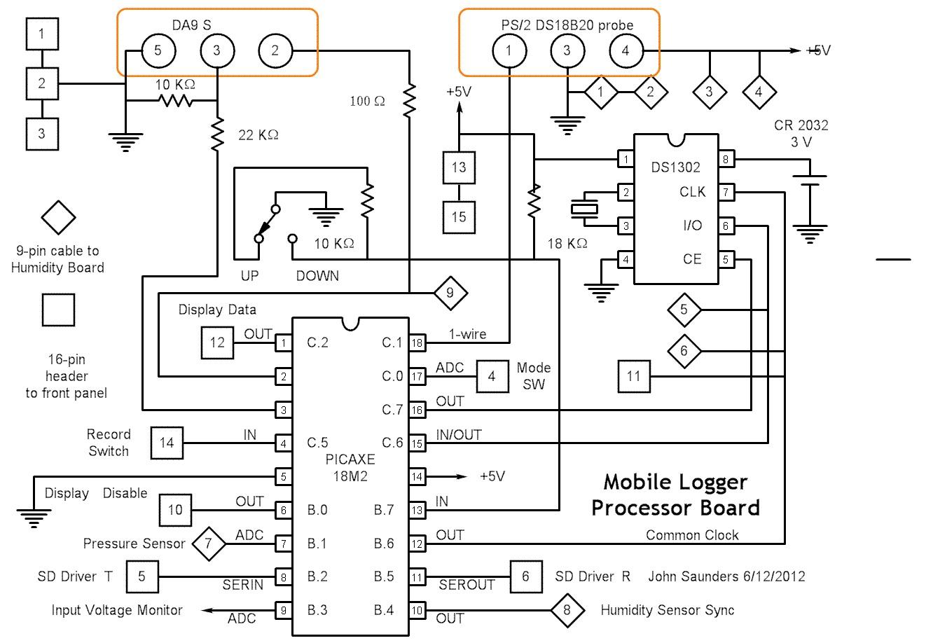 Mobile Logger Schematics