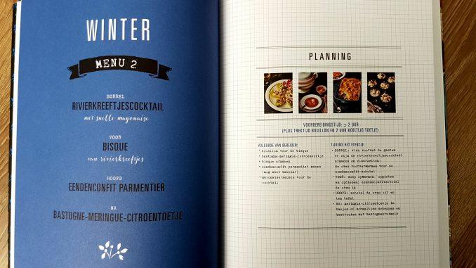 Voorbeeld menu uit Voer voor Vrienden