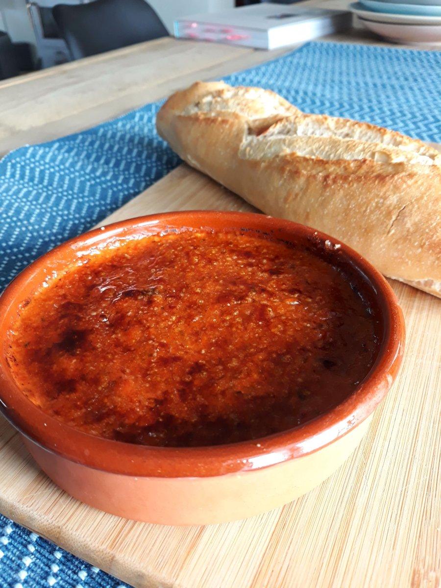 Spicy feta brûlée uit TLV