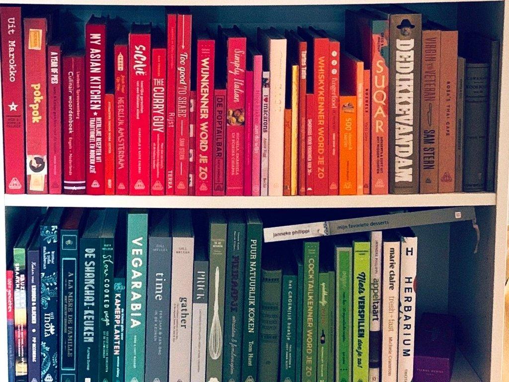 Kookboekenkast van Lisette Drent