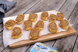 Toastjes met sardine-ansjovisboter