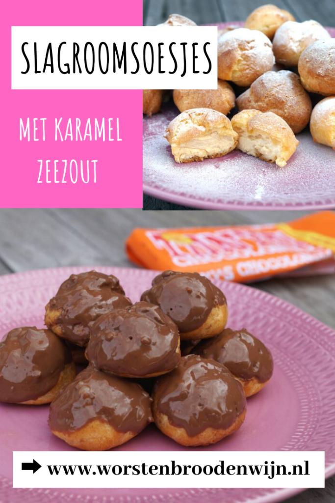 Slagroomsoesjes met zeezout karamel