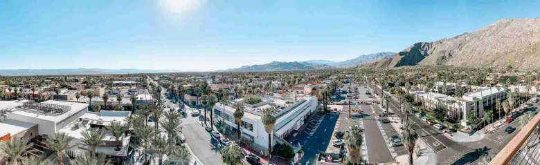 Panoramic view of Palm Springs