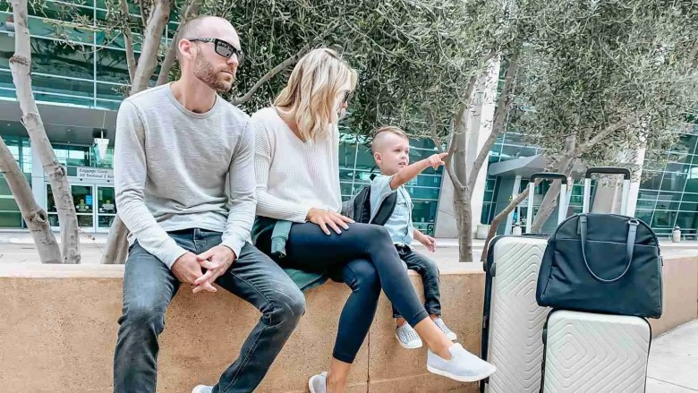 Family Travel at the airport