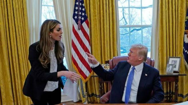 Hope Hicks and Trump