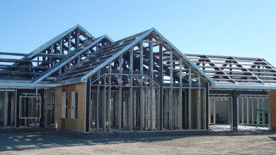 Steel home frame