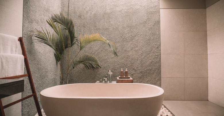 Bathroom With Removable Wallpaper