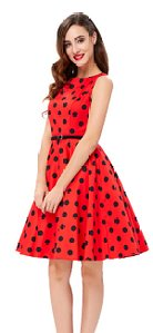 GRACE KARIN BoatNeck Sleeveless Vintage Tea Dress with Belt_6