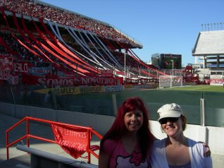 At the soccer game in Buenos