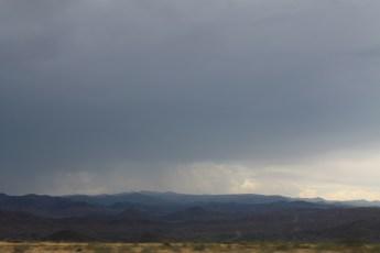 Rain on hwy 17, AZ