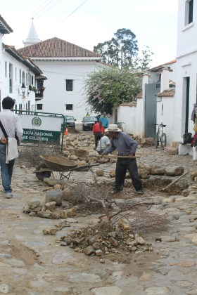 Leveling the cobblestones