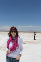 Seanna on the salt with the Japanese tourists who are in half our pictures....