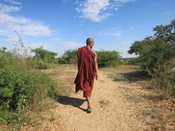 This monk led us on a twenty minute hike through the country to show us the cave monastery we were seeking. And never would have found without his help.