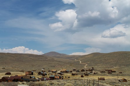 The buildings from a distance