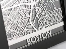 Boston City Map – Metal Wall Art | Cut Maps – Cut Maps