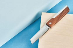 Real Wood Walnut Pocket Knife by Grovemade