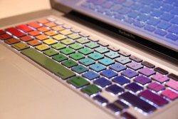 Crocodil Graphics – Rainbow MacBook Keyboard Decals&Stickers