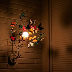 Sconce with butterflies and small sprouts Lamp